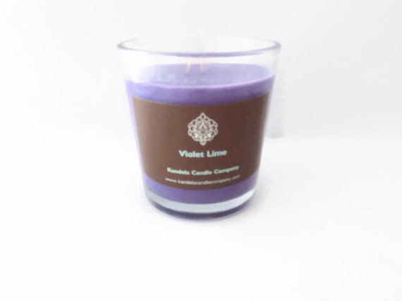 Violet Lime Scented Candle 13 oz. Classic Tumble Jar