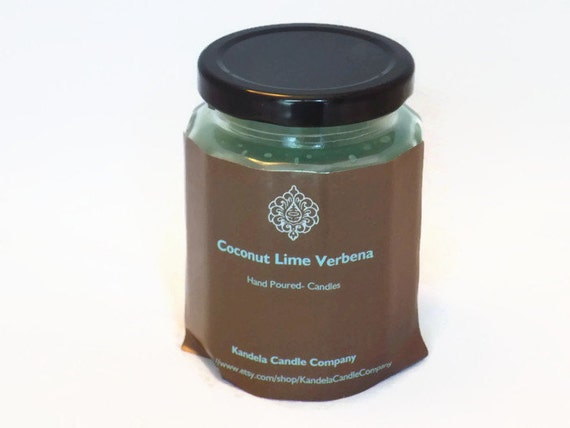 Coconut Lime Verbena Scented Candle 9 oz Twelve Sided Jar