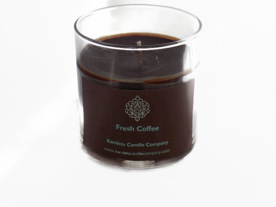New! Fresh Coffee Scented Candle in Straight Tumbler