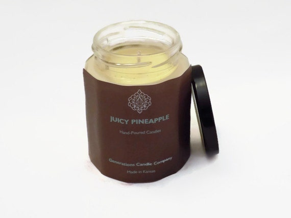 Juicy Pineapple Scented Candle 9 oz. Twelve Sided Container
