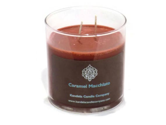 New! Caramel Macchiato Scented Candle in Straight Tumbler