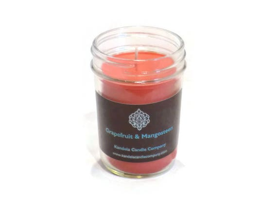New! Grapefruit and Mangosteen Scented Candle in Jelly Jar