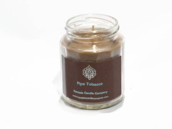 Pipe Tobacco Scented Candle in Twelve Sided Jar