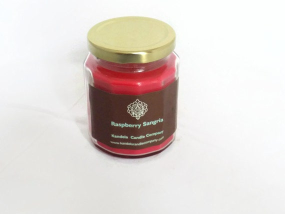 Raspberry Sangria Scented Candle in Twelve Sided Jar