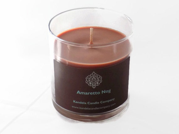 Amaretto Nog Scented Candle in Straight tumbler Double Wick