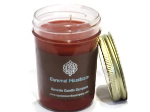 Caramel Macchiato Scented Candle in Jelly Jar