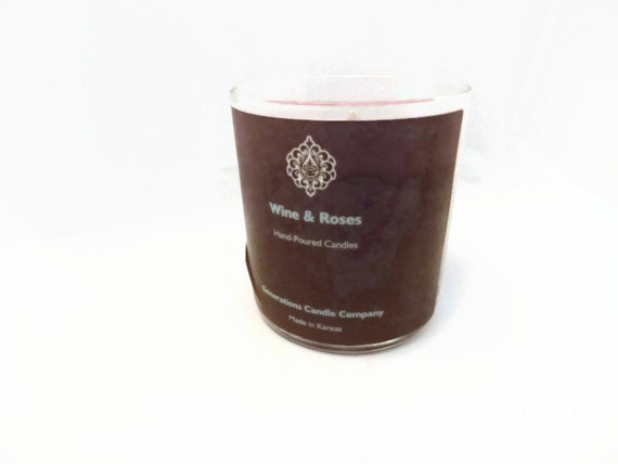 Wine and Red Roses Scented Candle 13 oz. Straight Tumbler