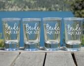 Bride Squad Beach Wedding Favors for Guests, Bridesmaid Shot Glasses, Bachelorette Party Favors,Beach Bachelorette Party Gifts, Bridal Party