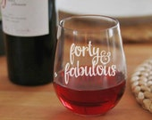 40th birthday gifts for women, Funny Wine Glass for Best Friend's Birthday, Fourty Birthday Gift, 40th Birthday Gift, 40th Birthday Party