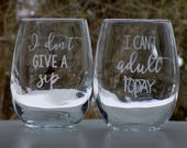 Stemless Wine Glasses Fun...