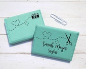 Fun Personalized Business Card Case, Leatherette Business Card Holder, Mompreneur Gift, Custom Business Card Wallet, Business Card Case