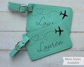 Set of 2 Custom Luggage Tags Personalized Luggage tags for Travel Lovers, Personalized Gifts for Women,