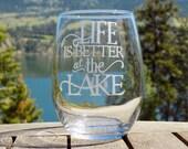Lake Life Wine Glass, Lak...