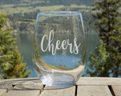 Cheers Wine Glass Engagem...