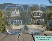 King and Queen Couples Gift, Newlywed Gift for Couples, His and Hers Gift for Engaged Couple, Wedding Gift for Newlyweds