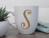 Personalized Monogram Mug for Women, Initial Mug, Custom Initial Gift, Initial Coffee Cup, Monogram Coffee Mug,