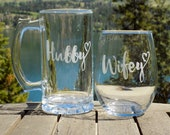 Hubby and Wifey Glasses, ...