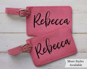 Personalized Luggage Tags Custom Luggage tags for Travel Lovers, Personalized Gifts for Women Birthday, Graduation Gifts, Set of 2