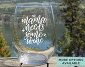 Mom Needs Wine Gifts for Mom, Mom Wine Glass, New Mom Gift, Funny Gifts for Mom, Mom Birthday Gift, Mothers Day Gift, Christmas Gift for Mom
