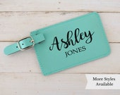 Custom Luggage Tag, Personalized luggage tag, Travel Lovers Personalized Gifts for Women, Leatherette Luggage Tags Personalized