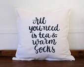 Farmhouse Pillow Cover, Farmhouse Decor Pillow, Fall Decor, Fall Pillow, Autumn Pillow, Winter Decor 20x20 White Pillow Cover,