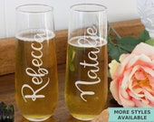 Personalized Champagne Flutes Wedding Champagne Flutes, Wedding Champagne Glasses, Toasting Flutes Wedding Flutes,