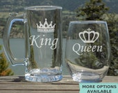 Wedding Gifts for Couple, Engagement Gifts for couple, King and Queen Engagement Gift Set, Wedding Anniversary Gift for Couple, His and Hers