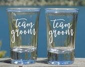 Team Groom Groomsmen Shot Glass Set, Groomsman Proposal Groomsmen Gift Set, Bachelor Party Gifts, Groomsmen Gift Ideas Bachelor Party Favors