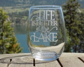 Lake Life Wine Glass, Lak...