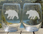 Cabin Decor Bear Stemless...