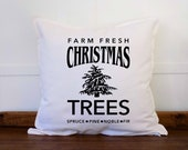 Christmas Tree Throw pillow cover, Xmas decor, Farmhouse Christmas Pillow Covers, Rustic Christmas Decor, Country Christmas Pillows