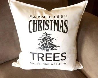 Xmas decor Christmas decor pillow cover, Farmhouse Christmas pillow cover Christmas, Rustic Christmas throw pillow cover,