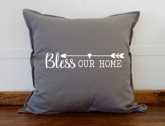 Admirable Bless Our Home Decorative Pillows For Couch Couch Pillows Couch Pillow Cover Living Room Decor Throw Pillow Cushion Cover Ud0718 Caraccident5 Cool Chair Designs And Ideas Caraccident5Info