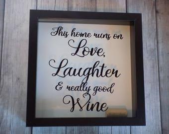 gift for wine lover, Wine Lovers Gift, Wine cork holder, memory box, wine lover, shadow box, wedding gift, cork holder