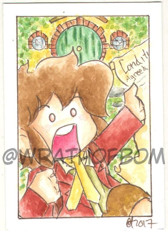 The Hobbit Bilbo Baggins Fan Art Artist Trading Card