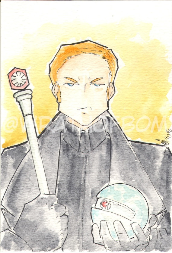 Star Wars The Last Jedi Fan Art General Hux Postcard Etsy
