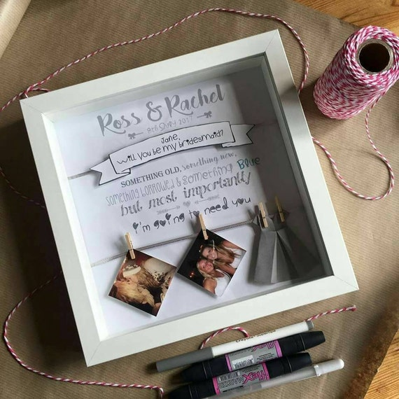 Will You Be My Bridesmaid Gift Box Maid Of Honour Etsy