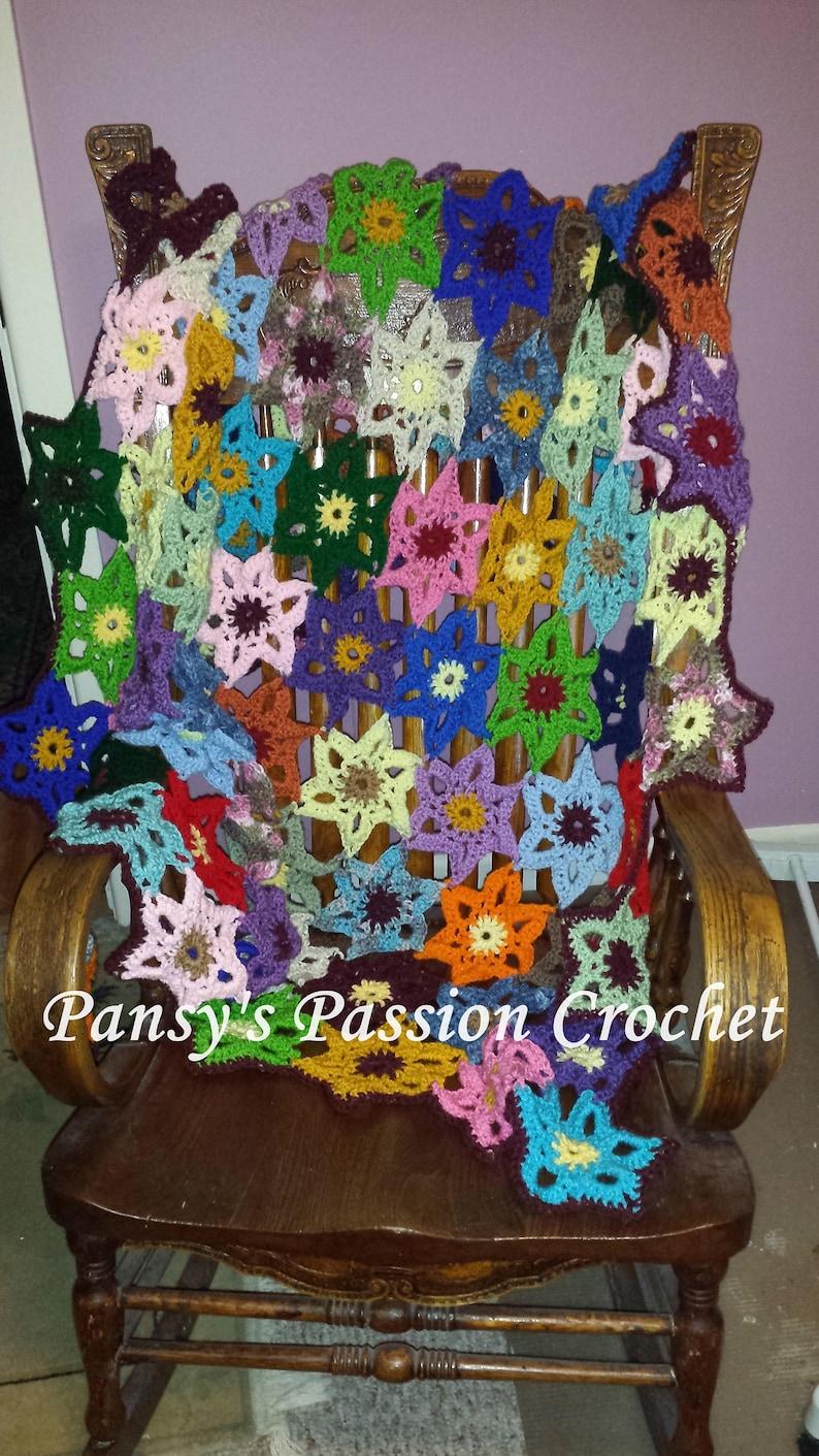 Hand Crocheted Wildflower blanket