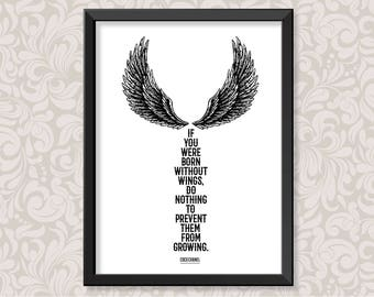 Wings by Coco Chanel (A4 and A3) print