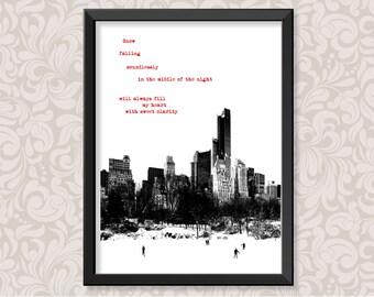 Snow Falling by Novala Takemoto (A4 and A3) print