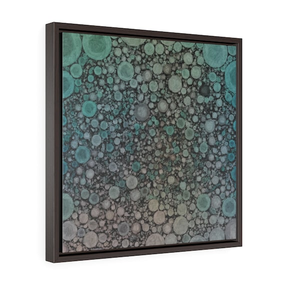 Green Nebula, Premium framed canvas print