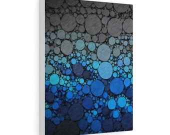 Blue Heart, print on gallery wrapped canvas