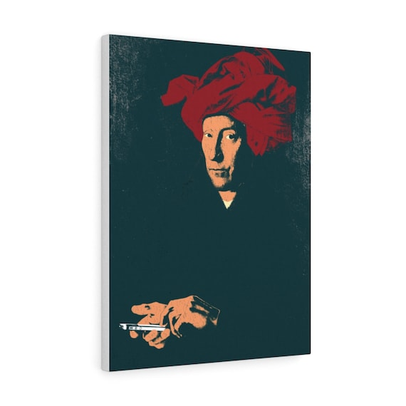 Van Eyck's Phone, canvas print