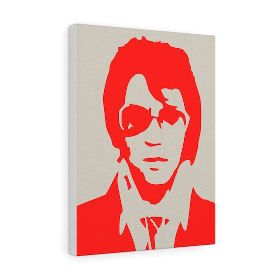 Elvis print on canvas