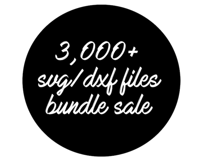 Featured listing image: sale // all files in my shop // svg dxf file instant download silhouette cameo cricut downloads clip art commercial use