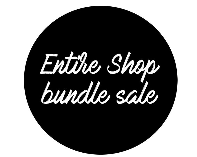 Featured listing image: entire shop sale // svg dxf file instant download silhouette cameo cricut downloads clip art commercial use