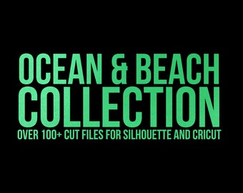 sale // ocean and beach collection // svg dxf file instant download silhouette cameo cricut downloads clip art