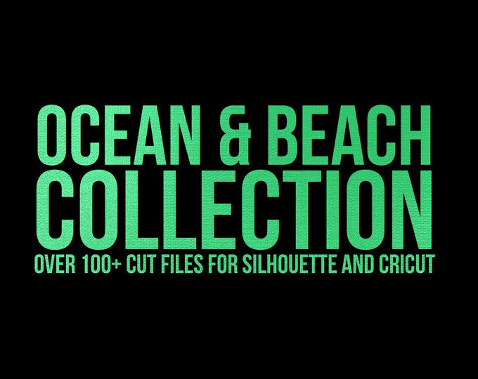 Featured listing image: sale // ocean and beach collection // svg dxf file instant download silhouette cameo cricut downloads clip art