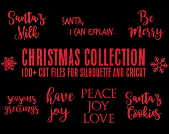 sale // christmas collection // svg dxf file instant download silhouette cameo cricut clip art