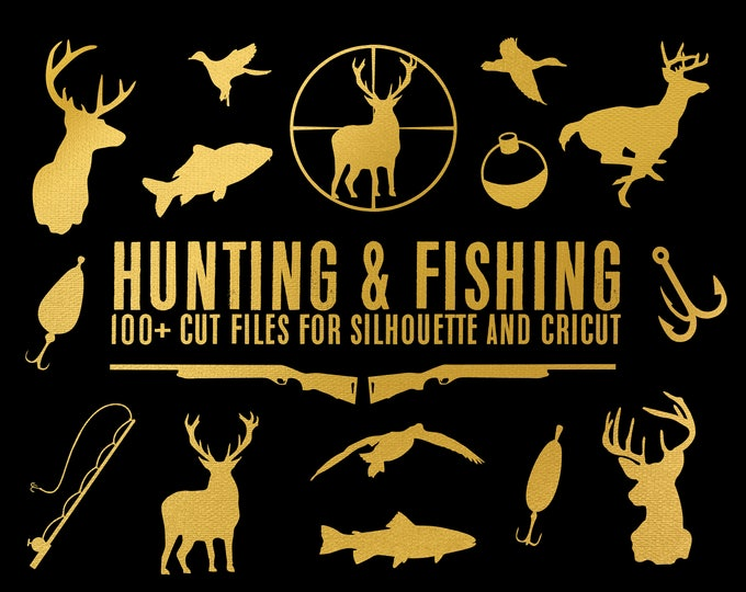 sale // hunting & fishing collection // svg dxf file instant download silhouette cameo cricut downloads clip art